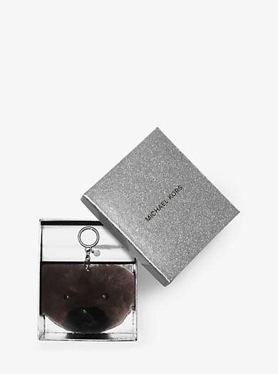 Teddy Bear Fur Keychain by Michael Kors