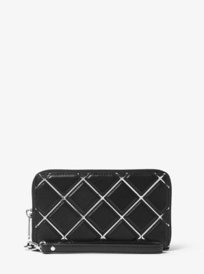 Jet Set Travel Large Quilted-Leather Phone Case by Michael Kors