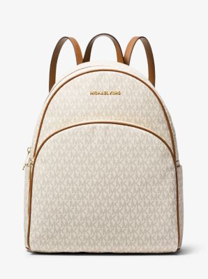 마이클 마이클 코어스 Michael Michael Kors Abbey Large Logo Backpack,VANILLA