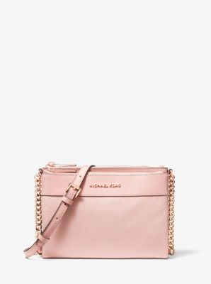 Michael Kors Kenly Large Pebbled Leather Crossbody Bag,BLOSSOM