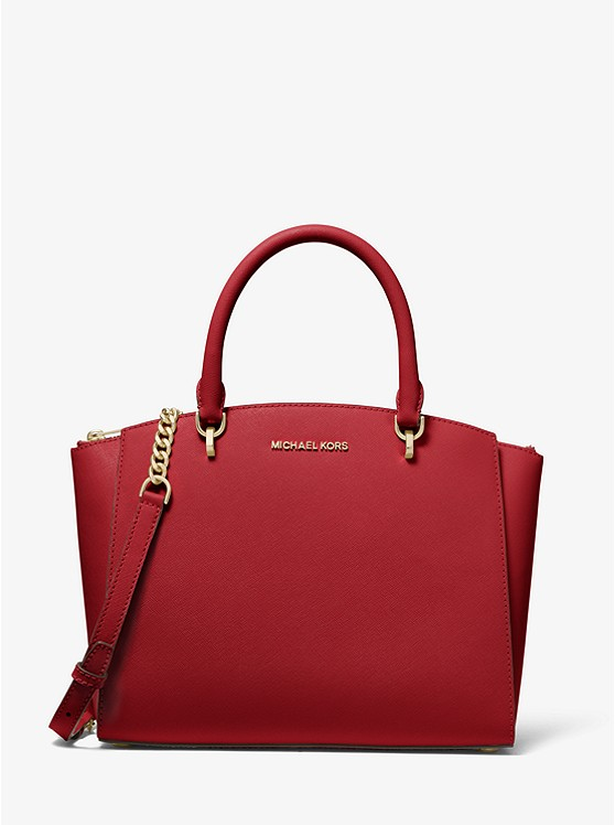 Ellis Large Saffiano Leather Satchel | Michael Kors