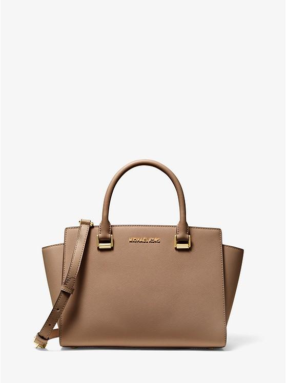 Selma Saffiano Leather Medium Satchel | Michael Kors