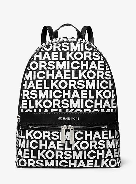 Kenly Large Graphic Logo Jacquard Backpack