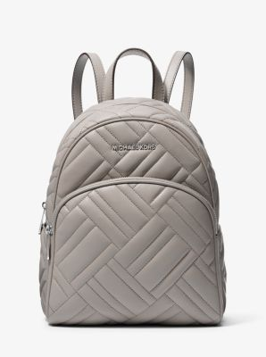 마이클 마이클 코어스 Michael Michael Kors Abbey Medium Quilted Leather Backpack,PEARL GREY