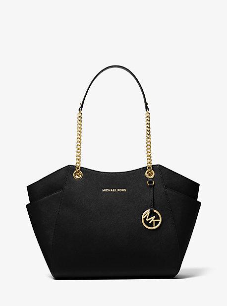 Jet Set Large Saffiano Leather Shoulder Bag