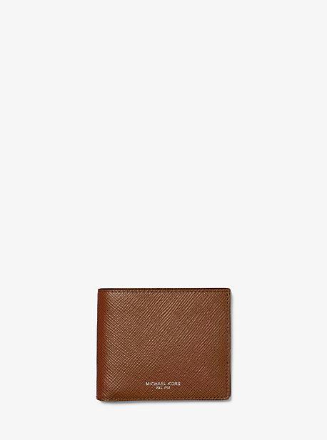 Harrison Crossgrain Leather Billfold Wallet with Passcase