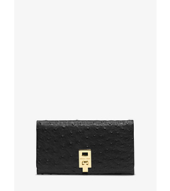 Miranda Ostrich Leather Continental Wallet