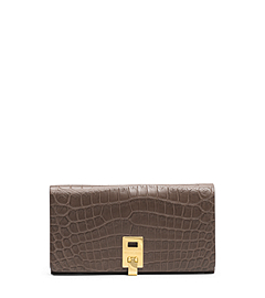 Miranda Crocodile Continental Wallet
