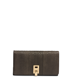 Miranda Sueded Snakeskin Wallet