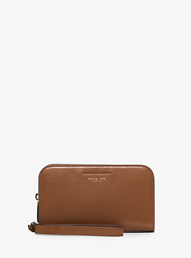 Celeste Leather Continental Wristlet by Michael Kors