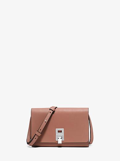 Miranda Medium Leather Crossbody by Michael Kors