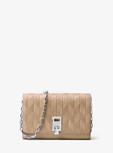 Miranda Appliqué Leather Chain Wallet by Michael Kors