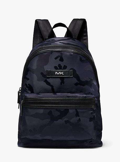 Camouflage Nylon Jacquard Backpack