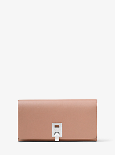 Miranda Leather Continental Wallet by Michael Kors