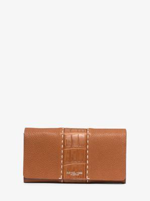 마이클 코어스 로저스 장지갑 Michael Kors Rogers Grained-Leather Continental Wallet,LUGGAGE