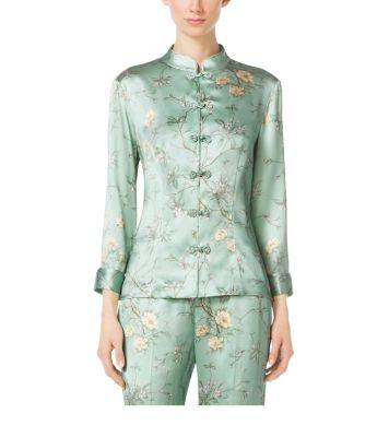Mandarin Evening Pajama Shirt by Michael Kors