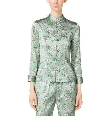 Mandarin Evening Pajama Shirt by Michael Kors