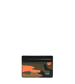 Jet Set Men's Camouflage Card Case