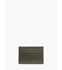 Crocodile Card Case by Michael Kors