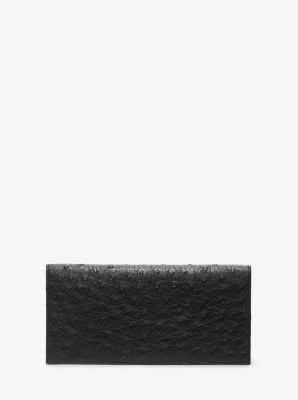 Ostrich Pocket Wallet by Michael Kors
