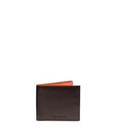 Jet Set Men's Two-Tone Leather Billfold