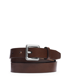 Skinny Leather Buckle Belt