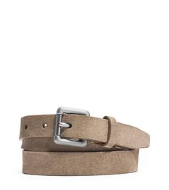 Skinny Suede Buckle Belt