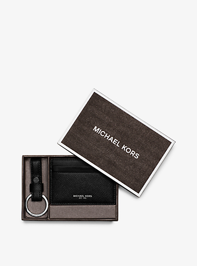 Leather Card Case and Key Fob Set    by Michael Kors