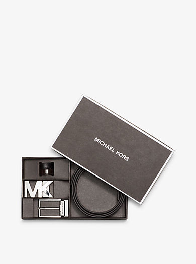 Reversible Leather Belt Set by Michael Kors
