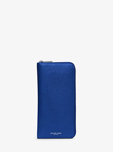 Harrison Leather Zip-Around Wallet by Michael Kors