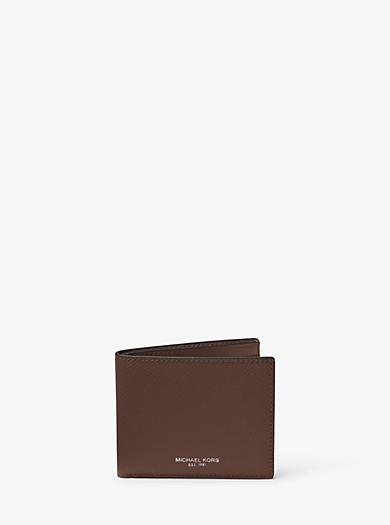 Harrison Slim Leather Billfold Wallet by Michael Kors