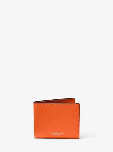 Portafoglio a libro Harrison sottile in pelle by Michael Kors