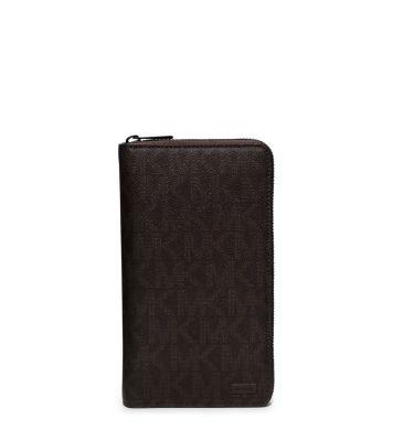 Jet Set Logo Zip-Around Travel Wallet by Michael Kors