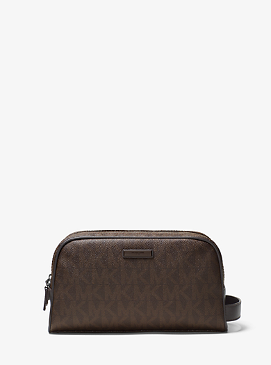 Beauty case da viaggio Jet Set con logo e doppia zip by Michael Kors