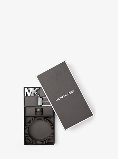 Four-In-One Logo Belt Box Set by Michael Kors