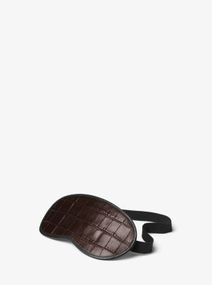 Embossed-Leather Sleeping Mask by Michael Kors