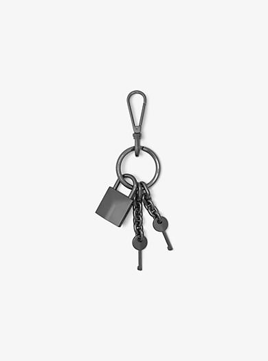 Gunmetal-Tone Keychain by Michael Kors