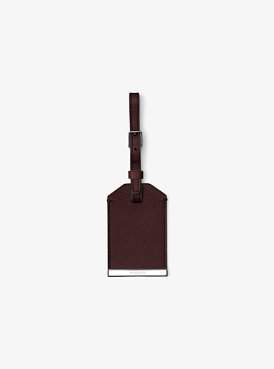 Kamden Leather Luggage Tag         by Michael Kors