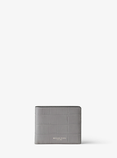 Bryant Embossed-Leather Billfold by Michael Kors
