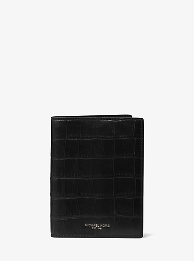 Bryant Embossed-Leather Passport Cover by Michael Kors