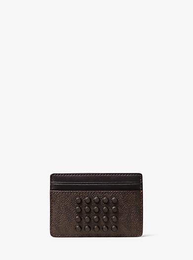 Porta carte di credito Jet Set con borchie e logo by Michael Kors