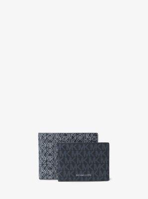 마이클 코어스 맨 그레이슨 로고 여권지갑 Michael Kors Greyson Graphic Logo Billfold Wallet With Passcase,ADM/PAL BL/W