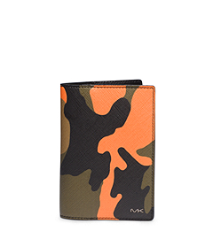 Jet Set Men's Camouflage Passport Wallet