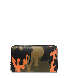 Jet Set Men's Camouflage Zip Wallet