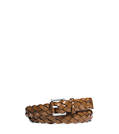 Braided Leather Belt by Michael Kors