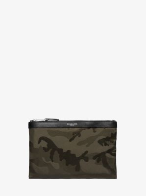 Kent Camouflage Nylon Travel Pouch by Michael Kors