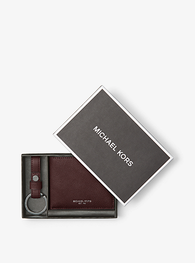 Set di portachiavi e sottile portafoglio a libro by Michael Kors