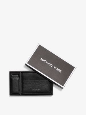Leather Money-Clip Card Case  by Michael Kors