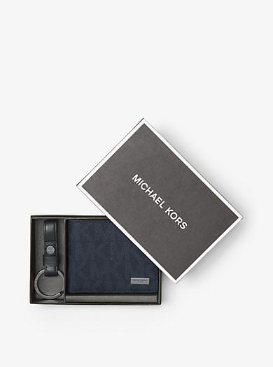 Set aus schmaler Brieftasche und Schlüsselanhänger by Michael Kors