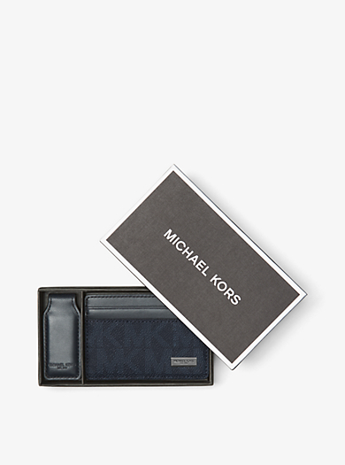 Porta carte di credito con clip fermasoldi by Michael Kors